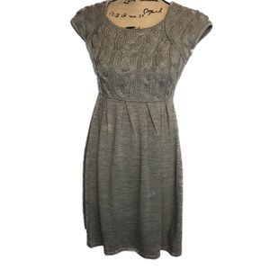Fever sz M gray knit skater dress cute boho autumn